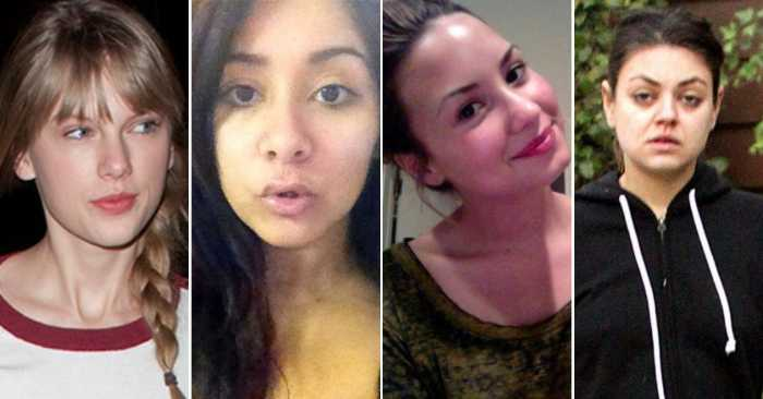 18 Shocking Photos Of Celebrities Without Makeup